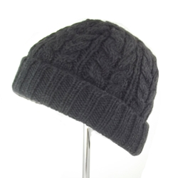 Aran Cable Turnup Hat - 1528