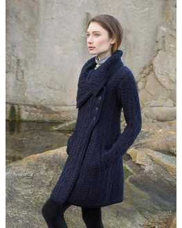 Chunky Collar Coat with Buttons - X4416