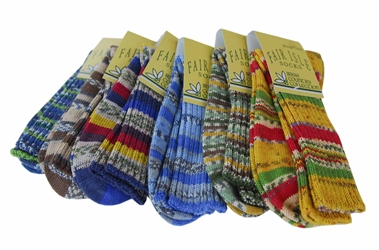 Fair Isle Socks Regular - Large 8 1/2-11 1/2