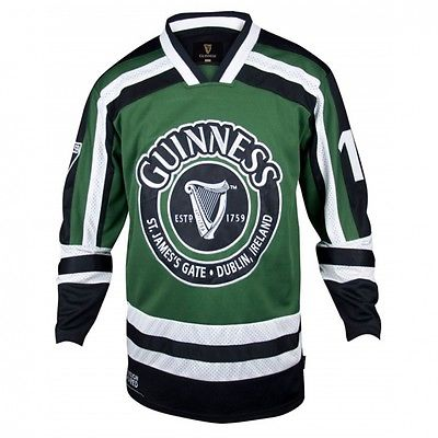 Guinness Green And White Harp Hockey Shirt