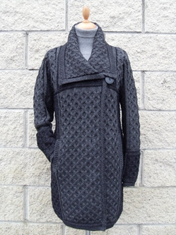 Single Button Plated Coat - X4289