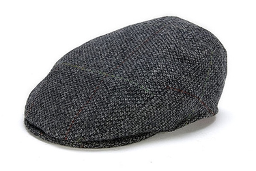 Donegal Tweed Vintage Cap Grey Check