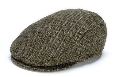 Donegal Tweed Vintage Cap Green Check