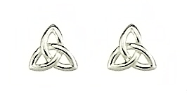 Sterling Silver Trinity Knot Stud
