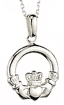 Sterling Silver Small Claddagh Heavy