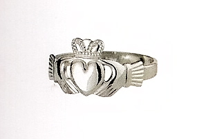 Sterling Silver Puffed Heart Maids Claddagh