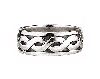 Sterling Silver Gents Celtic Band