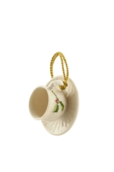 Holly Cup & Saucer Ornament - 4144