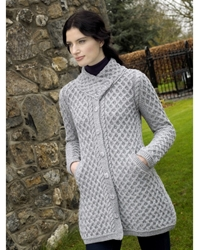 Button Coat with Crossover - x4831