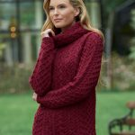 Cable Knit Cowl Neck Sweater - CW4885
