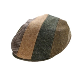 Vintage Cap Striped Brown Patch - 77B1SB