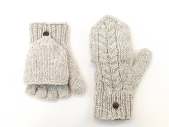 Cable Hunter Gloves - Oatmeal