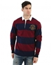 Guinness Wine and Navy Striped Rugby Jersey - JIG2013M-RTQ