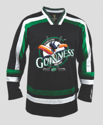 Guinness Toucan Hockey Jersey Black and Green