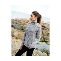 Cable Crew Neck with Pockets - C4443