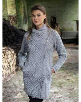 Cable Knit Side Zip Coat - Z4631