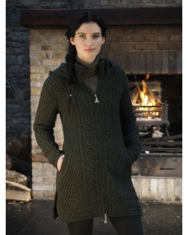 Ribbed Coat with Hood - HD4826